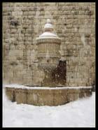 Fontaine sous la neige - ascension GARCIA