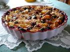 Clafoutis aux pommes, nectarines jaunes, casseilles,  noix de coco et kirsch par Jacqueline DUBOIS sur L'Internaute