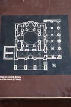 plan de l'église orthodoxe Sainte Sophie de Monemvassia - Genevieve LAPOUX