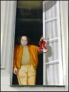 Jacques Villeret & son violon (trompe-l'oeil) par Yvette GOGUE sur L'Internaute