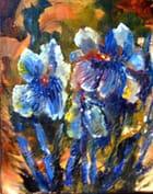 Iris bleus.... - Régina MASSON