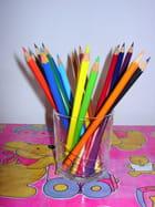 Crayons de couleur, vie en couleur. -