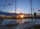 coucher de soleil sur la capitainerie - Huguette Roman