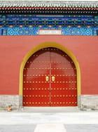Porte Temple du ciel - Edmond Ruzicka