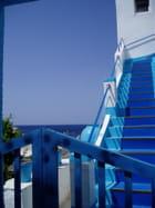 bleu et blanc - JOSETTE FLOCH