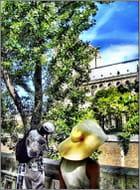 Dame au chapeau de paille - Jean pierre TOLOMIO