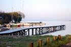 lever de soleil sur le petit port - Genevieve LAPOUX