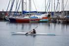 en bateau dans le port de Saint Pierre - Genevieve LAPOUX
