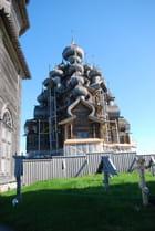 l'église orthodoxe du XVI° siècle de l'île de Kiji - Genevieve LAPOUX