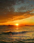 Coucher de soleil par Huguette Roman sur L'Internaute