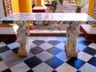 Table de marbre avec statues - Jean-pierre MARRO