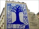 """Passant, regarde ce grand arbre... "" (art mural) - Yvette GOGUE"