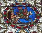 Saint Martin (vitrail), à Luynes par Yvette GOGUE sur L'Internaute