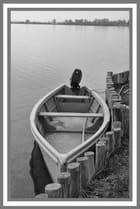 Barque au bord de l'étang - CHARLES LUCCHINI