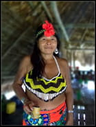 Femme Embera Tatoo Chagua Panama Nov2007 par Jessica PERALTA sur L'Internaute