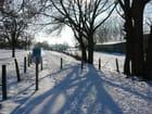 campagne sous la neige - jean marie leclercq