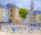 Procession Dansante - Procession Dansante, Echternach 2001 (Huile sur Panneau ) 110 x 100 cm Abdellatif Zeraïdi