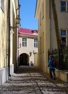 une rue pavée de la vieille ville - Genevieve LAPOUX