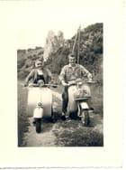 Vespa et moby en 1955 -
