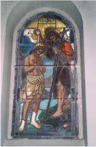 Bapteme de St Jean Baptiste vitrail - Christiane HASENFRATZ
