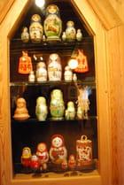 a vitrine de poupées Russes, les matriochkas
