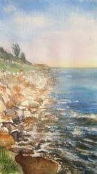 Aquarelles des rochers de La Linière à Noirmoutier