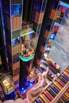 ascenseur vitré du bateau de croisière le Costa Séréna