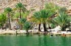 Baignade dans l'eau chaude du wadi