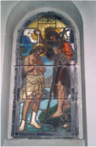 Bapteme de St Jean Baptiste vitrail
