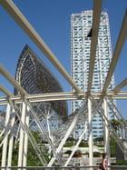 Barcelona, port olympique, architecture métallique