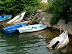 Barques en attente sur l'Argens