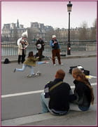 Blues New Orleans sur le pont Saint-Louis