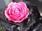Bougie en forme de rose