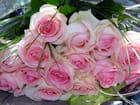 bouquet de roses au coeur rose