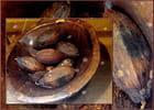 Cabosses de cacao séchées