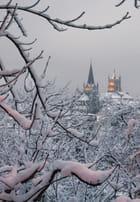 Cathédrale de Lausanne sous la neige