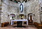 Chapelle moderne du sanctuaire de Greccio (dans le Latium)