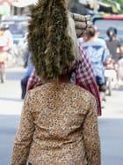 Cheveux en brosse