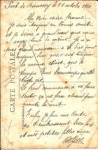 Correspondance de grand père en 1916