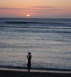 coucher de soleil à la plage de l'Hermitage Les Bains