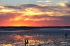 coucher de soleil en Cotentin  Manche