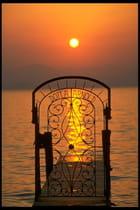 Coucher de soleil en italie
