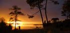 coucher de soleil lumineux