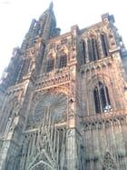 Coucher de soleil sur la Cathédrale de Strasbourg