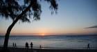 coucher de soleil sur la plage de Saint Leu