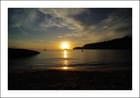 Coucher de soleil sur la playa..