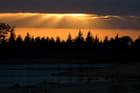 Coucher de soleil sur le lac de St Ferréol