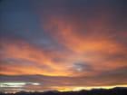 Coucher de soleil sur sigoyer dans les Hautes Alpes