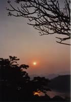 Coucher du soleil sur le mékong