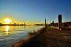 Coucher sur la Meuse